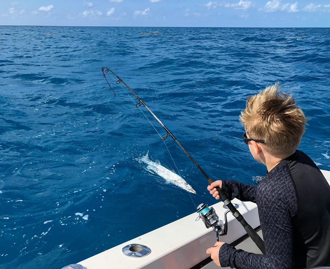 Barracuda Caught on Far Out Fishing Charters